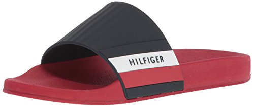 Mens Sandal Embry Hilfiger Slide Mens Tommy Tommy Red Hilfiger OSqgg