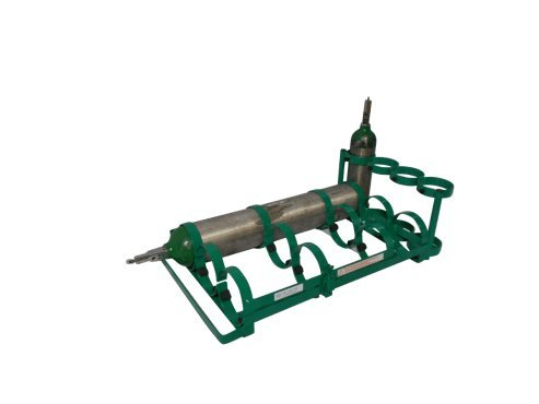 FWF OXYGEN CAR RACK HOLDS UP TO 7 (D, E OR C STYLE) CYLINDERS DIAMETER OF 4.3'' MADE IN USA