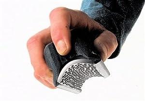 The EVO Hoof Care Radius Rasp-2 'PRO' barefoot hoof shaping tool, plastic ergonomic handle with Replaceable Solid Stainless SteelBlade with Standard Rasp Teeth
