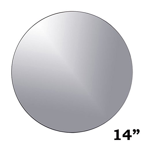 BalsaCircle 12 pcs 14-Inch Round Glass Mirrors for Wedding Party Favors Centerpieces Table Decorations Wholesale Supplies