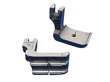 Industrial máquina de coser ribetes de pie doble de 1/8, compatible con hermano, JUKI: Amazon.es: Hogar
