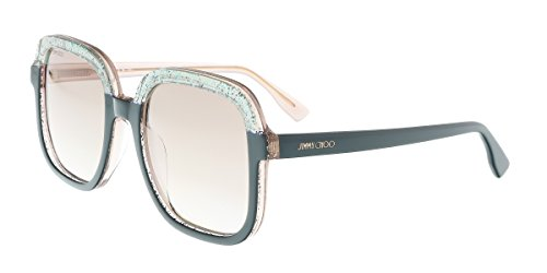 Jimmy Choo Glint/S Sunglasses Green Glitternude / Powder - Choo Jimmy Mens Sale