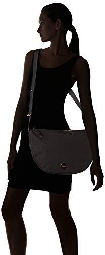 Calvin Klein ED1TH Half Moon Crossbody, Sac Femme, Noir (Black), 8x25x44 cm
