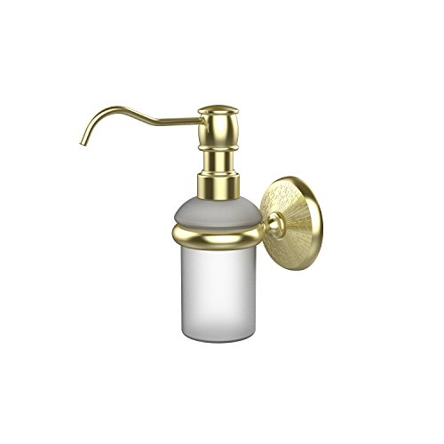 (Allied Brass MC-60-SBR Monte Carlo Collection Wall Mounted Soap Dispenser Satin Brass)