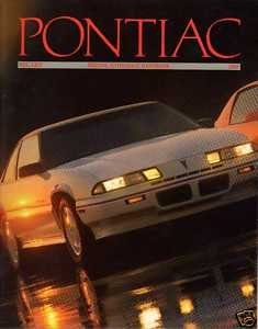 - 1989 PONTIAC FULL-LINE PRESTIGE COLOR SALES BROCHURE + BONUS !! LOT OF 3 CATALOGS !! USA !!