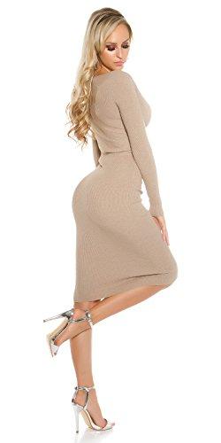 KouCla - Vestido - ajustado - Básico - para mujer Cappuccino