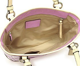 3702d3274363 Amazon.com  Coach 22322 Peyton Orchid   Tan Embossed Patent Leather Tote   Shoes