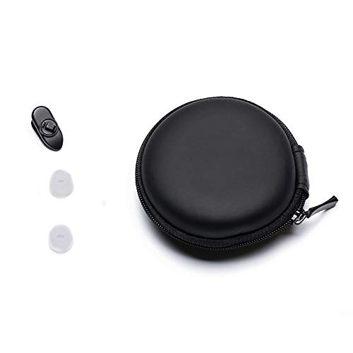 HIFIMAN イヤホン/イヤホン/Bluetooth イヤホン 携帯/旅行/収納/保護 ハードPUポータブルジッパーケース/バッグ/ポーチ クリップ1個とシリコンチップ1組 ブラック   B07LG2B1SF