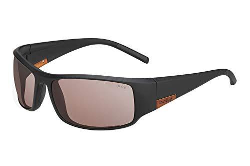 Bolle 12575 King Matte Black Metal Brown Sunglasses, Brown