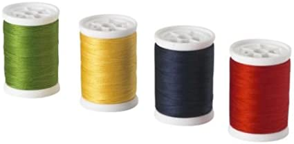 IKEA SY – Hilo de coser, color rojo/azul oscuro, amarillo/verde/4 ...
