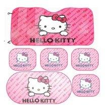 6pcs-pink-hello-kitty-car-sun-shade-rear-head-back-side-window-sunshade-cover-mesh-visor-shield-scre