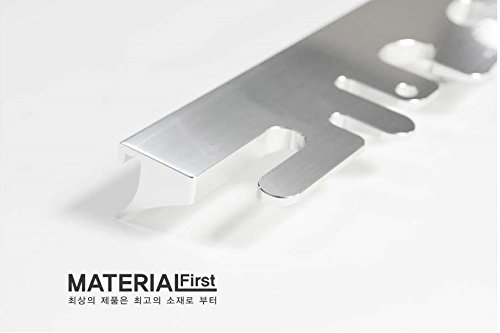 Octo Material First Antibacterial Toothbrush Holder Stand for Bathroom Vanity Silver by Tobathysteme (Image #2)