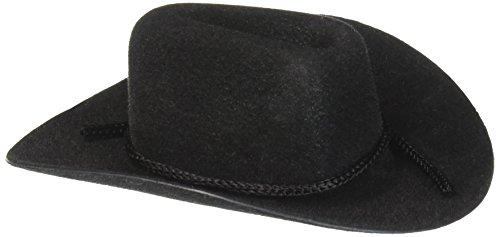 Cowboy Hat Rope Trim Black