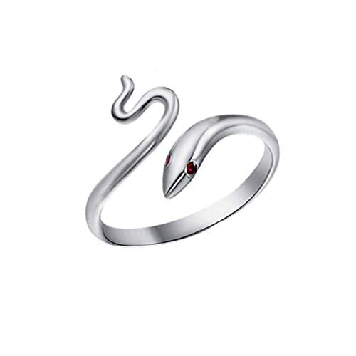 Gquan Men's Ring,S925 Sterling Silver Ring with Serpentine Opening Ring