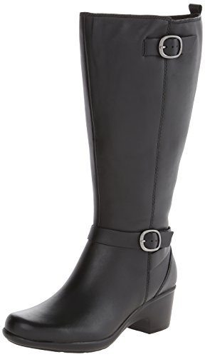 Clarks Womens Malia Poplar A Boot Black 2dUa1Buo
