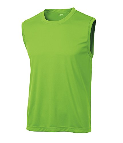 - Opna Men's Sleeveless Muscle Tank Top T-Shirts, Lime Shock, X-Large