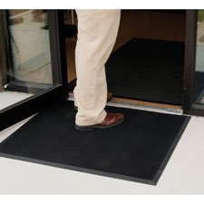Scraper Floor Mat, Brush Tip,36''''x72'''' Double Door, Black, Sold as 1 Each