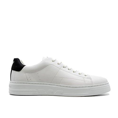 Sneakers Emporio Contrasto Bianca A Gomma Talloncino Armani E aaw5xrq4A