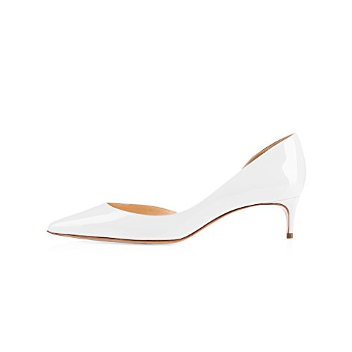 9d4e3ef7c4e cheap FSJ Women Classy D orsay Pumps Mid Low Heels Slip On Formal Dress  Shoes
