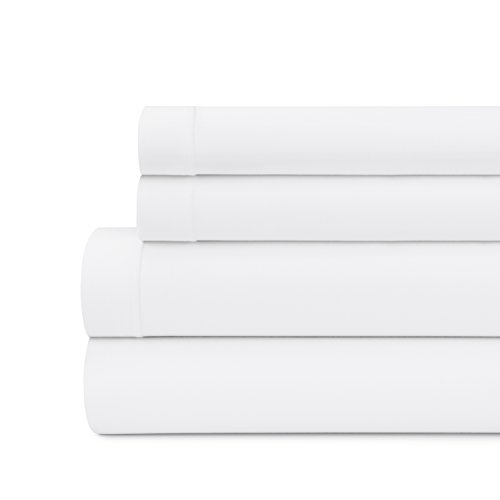 - Briarwood Home Modal Jersey Sheet Set - Soft & Breathable 100% Modal Jersey Knit 150GSM | T-Shirt Soft 4 Piece Sheet Set, Deep Pocket, Solid Colors, All Season Cotton Bed Sheets (Queen, White)