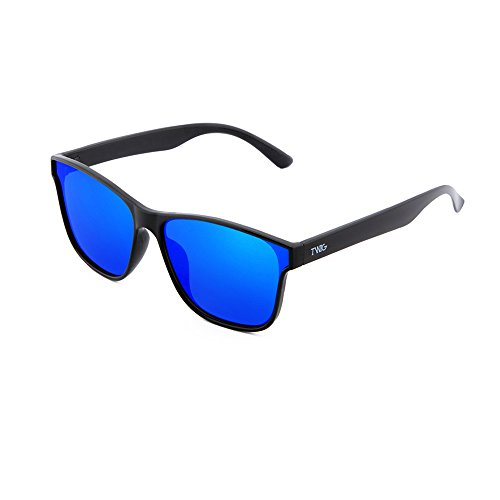 BRETON de espejo TWIG Negro mujer Gafas degradadas hombre Blu sol qUtn1