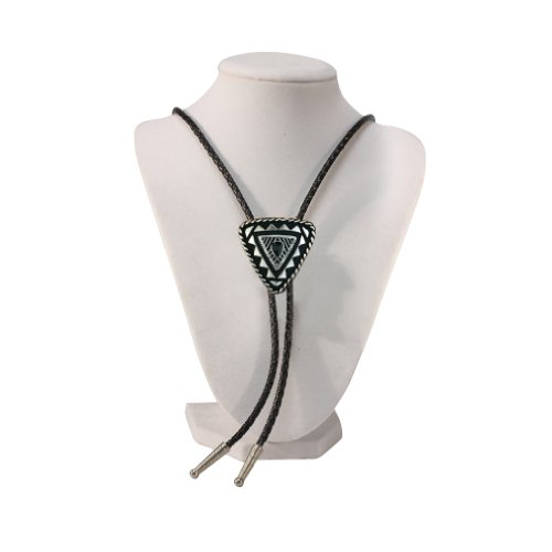 Silver Tone Plated Special Triangular Western Bolo Tie