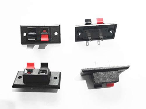 LXM 8 Pcs Speaker Box Terminal Binding Post Spring Clip 2-Way Connectors