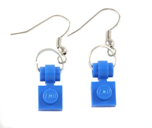 LEGO Blue 1x1 Dangle Earrings Jewelry