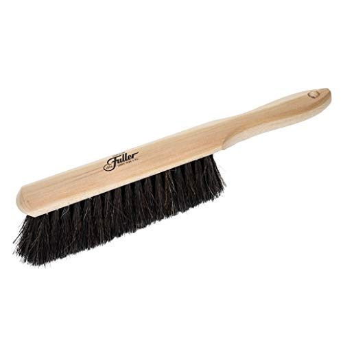 Fuller Brush Bench Brush with Hang-up Hole - Heavy Duty Chair & Table Duster w/Horsehair & Nylon Bristles - Mops Ashes & Dust For Clean Deck & Kitchen Tops