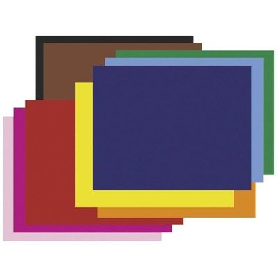 Pacon Corp 4-Ply Railroad Board In Ten Assorted Colors, 28 X 22, 25/Carton