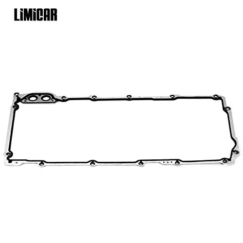 (LIMICAR Engine Oil Pan Gasket Set OS30693R Compatible with 1997-2011 Avanti Buick Cadillac Chevrolet GMC Hummer Isuzu Pontiac Saab)