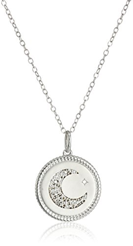 Diamond Accent Love Necklace - Sterling Silver Diamond Accent