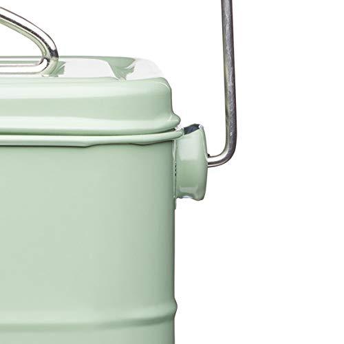 Kitchen Craft Living Nostalgia Metal Kitchen Compost Bin in English Sage Green
