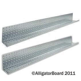 Alligator Board ALGSHELF5x48GALV 5 in. L x 48 in. W Metal Pegboard Shelves - Pack of 2