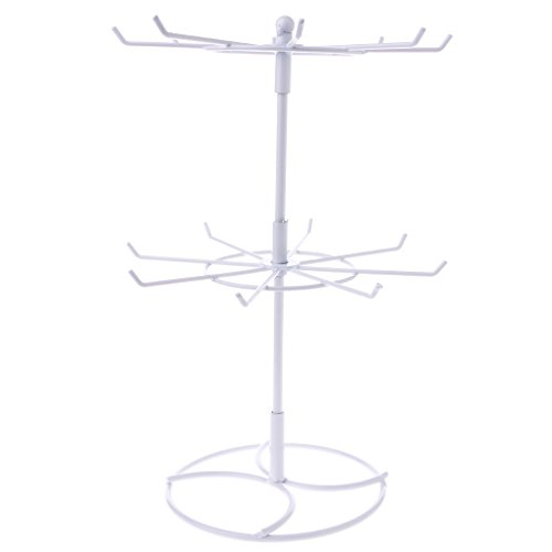 Creative Display Rack (Misright Creative Rotating Metal Necklace Bracelet Chain Rotation Hanging Jewelry Display Rack Stand Holder (White))