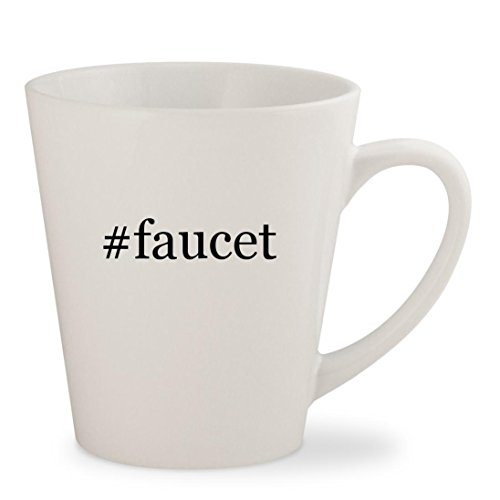 #faucet - White Hashtag 12oz Ceramic Latte Mug (Fairfax 2 Handle)