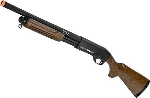 Evike S&T M870 Type Full Metal Airsoft Training Shotgun (Version: Standard Version/Black)