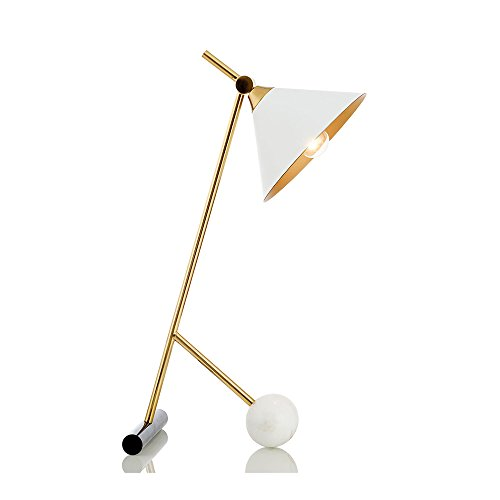 SunHai Table Lamp Industrial Style Iron Material White Desk Lamp Suitable for Living Room, Bedroom, Study 25cm55cm -