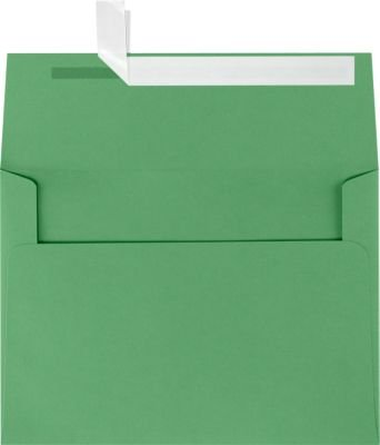 Green Square Photo Card - A7 Invitation Envelopes w/Peel & Press (5 1/4 x 7 1/4) - Holiday Green (50 Qty) | Perfect for Invitations, Announcements, Sending Cards, 5x7 Photos | Printable | 80lb Paper | FE4280-12-50