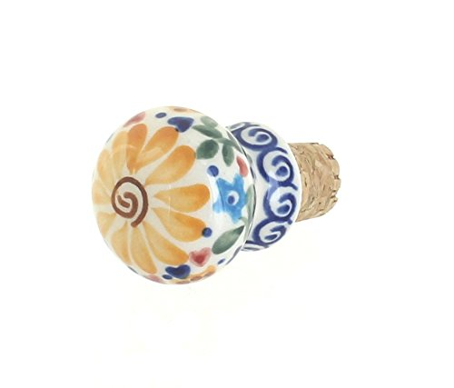 Blue Rose Polish Pottery Butterfly Wine Cork