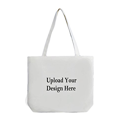 Custom Tote Bag,Add your Picture Logo Text Print,Reusable Canvas Shopping Bag,Great personalized Gift]()