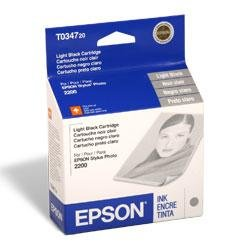 T034720 Ink, 628 Page-Yield, Light Black by Epson