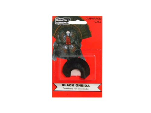 Pete Rickard's Scotch The Onieda Black Triple Reed Double Cutter Turkey Diaphragm Mouth Call