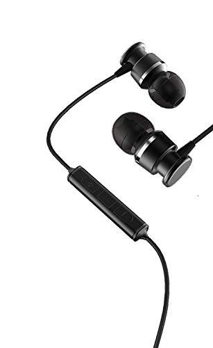 JKR in Ear Earbuds,TENLUBEN Stereo Bass Headphones Noise Isolation Corded in-Ear Sport Earphones w/Mic Volume Control 3.5mm Jack +3 Pairs Secure Fit Wired Headsets(Black)