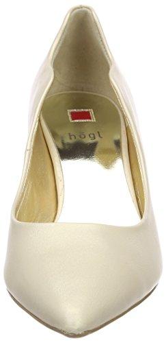 Bianco 5 Donna 6773 Scarpe con Högl 0900 Tacco Champagner 10 vqwxB8O