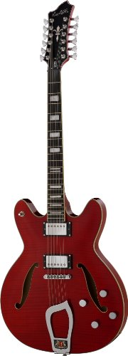 Hagstrom VIDLX12-WCT Viking Deluxe 12-String Wild Cherry Transparent