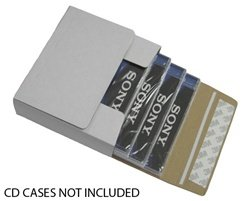 (10) Standard Fold-Up White Cardboard Single CD Jewel Case Mailers - CDBC01 - Shipping Boxes/Containers