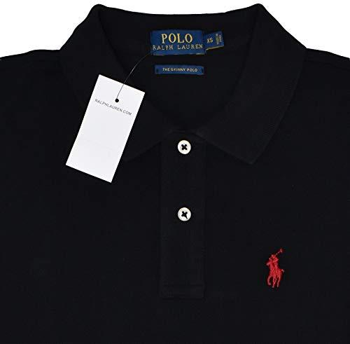e7c6297f83aa Ralph Lauren Poloshirts Custom Slim Fit schwarz mit rotem Reiter