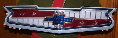 1956-1957 GM Chevrolet V8 Hood Emblem Metal Sign 30