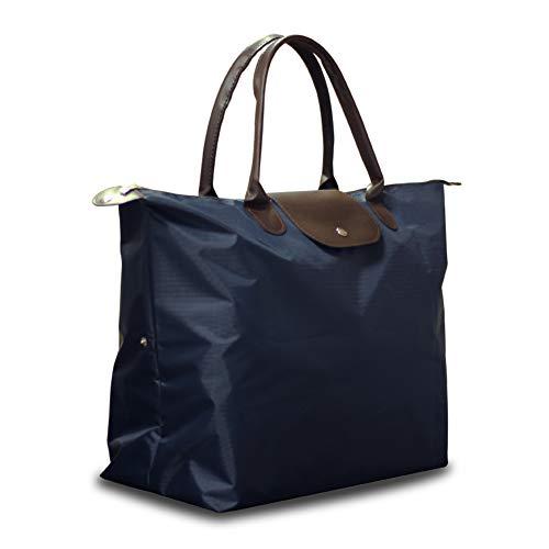 e Bag Waterproof Lightweight Large Travel School Beach Tote Waterproof Tote Bags,Navy Blue ()